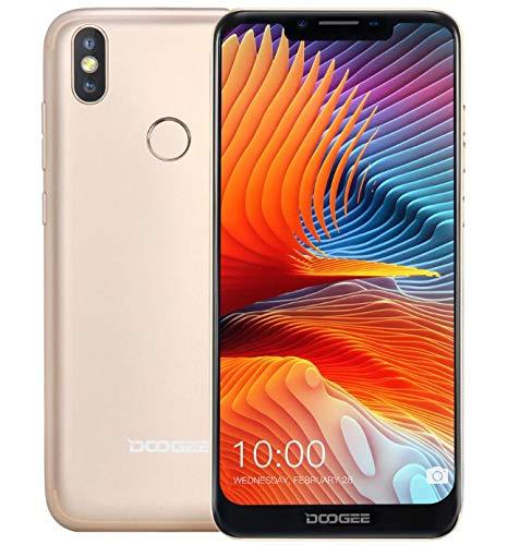 DOOGEE BL5500 LITE Android 8.1 Smartphone ohne Vertrag (4G LTE) - super schlank mit 5500mAh Akku, 6,19 Zoll U-Kerb-Bildschirm (19:9 Verhältnis Vollbild), 5MP+8MP+13MP Triple-Kameras,- Gold