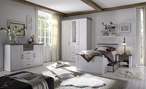 moebel-guenstig24.de Senioren Schlafzimmer Komplett Set 4-TLG. Luca K Komfort Seniorenzimmer Pinie weiß