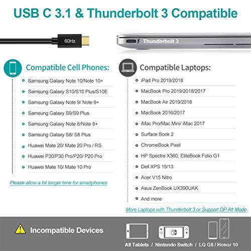 CHOETECH USB C auf HDMI Adapter, Typ C Thunderbolt 3 auf 4K HDMI Adapter Kompatibel mit Apple iPad Pro/MacBook Air 2018, MacBook Pro 2018/2017, iMac 2017, Galaxy Note 9/S9/S8, Huawei Mate 20 Pro/P20