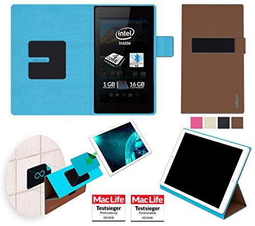reboon Hülle für Allview WI7 Android Tasche Cover Case Bumper | in Braun | Testsieger