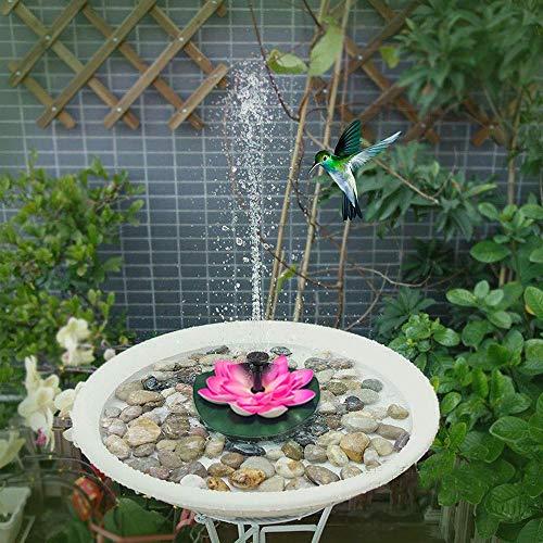Solarbrunnenpumpe, schwimmender 2,5-W-Wasserlotus, Solarvogelbadbrunnen - Orientalischer klassischer Gartenterrassenteich Lotusblume Schwimmende Poolbeleuchtung Gartendekoration