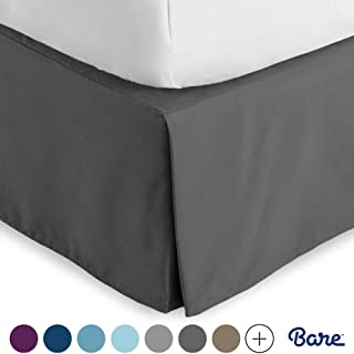 Bare Home Kids Bed Skirt Double Brushed Premium Microfiber, 15-Inch Tailored Drop Pleated..