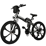 ANCHEER 26 Zoll E-Bike Mountainbike 250W Motor 36V 8AH Lithium Akku 21-Gang, Faltbares...
