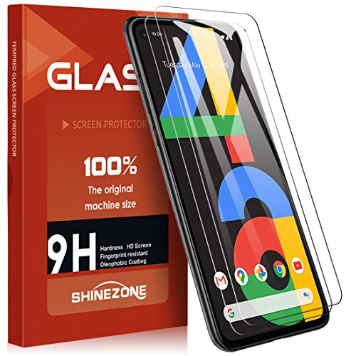 SHINEZONE Google Pixel 4a ガラスフイルム【 2枚セット】 強化ガラス液晶保護フィルム 日本旭硝子製 防指紋 透過率99.9%
