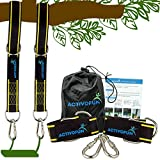 Tree Swing Straps Hanging Kit 10ft  2 Long Tree Swing Strap Adjustable, Locking Carabiners & Carry Bag, Holds 2400 Lbs  Safe, Fast & Easy for Tree Swings for Kids Outdoor, Infant Toddler Swing