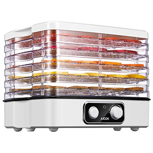 Check Out This AICOK Food Dehydrator, 5-Tray Food Dehydrator Machine with Temperature Settings for J...