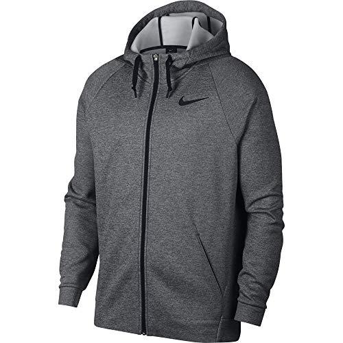 Nike Men's Therma Full Zip Training Hoodie Charcoal Heather/Black Size X-Large