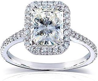 Radiant-cut Moissanite Engagement Ring 2 CTW 14k White Gold (8x6mm)