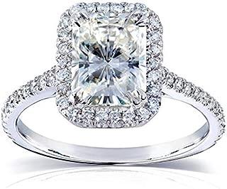 Kobelli Near-Colorless (F-G) Moissanite Engagement Ring 2 CTW 14k White Gold (8x6mm)