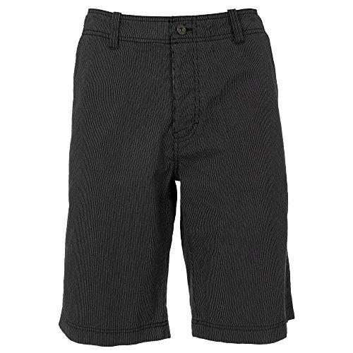 Trespass - Pantalones cortos casuales Modelo Hispidus longitud larga hombre caballero (Pequeña (S)/Negro a rayas)