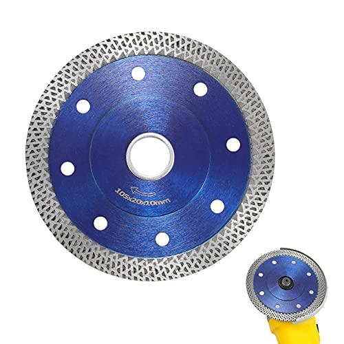 UCISACOLT Disco de corte de hoja de sierra de diamante para cortar baldosas de porcelana Granito Mármol Cerámica Super Thin Turbo Mesh Blade para porcelana y granito Amoladora angular 0.88 pulgadas