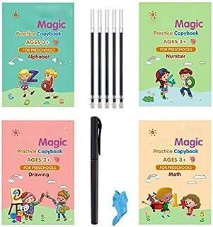 Sank Magic Practice Copybook for Kids -Reusable Writing Practice Book The Print Handwiriting Workbook(Alphabet Book with Pen)