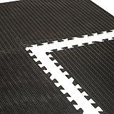 CAP Barbell 24' x 24' Interlocking Puzzle Mat (6 Piece), Tire Tread Top, 12 mm Thick