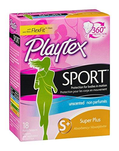 Playtex Femcare Sport-Tampons, Super Plus, parfümfrei, je 18 Stück von Playtex