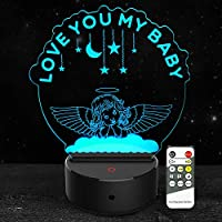 3D ナイトライト 7色変化 リモコン付き ギフト 子供 女の子 男の子 赤ちゃん Thinking Girl