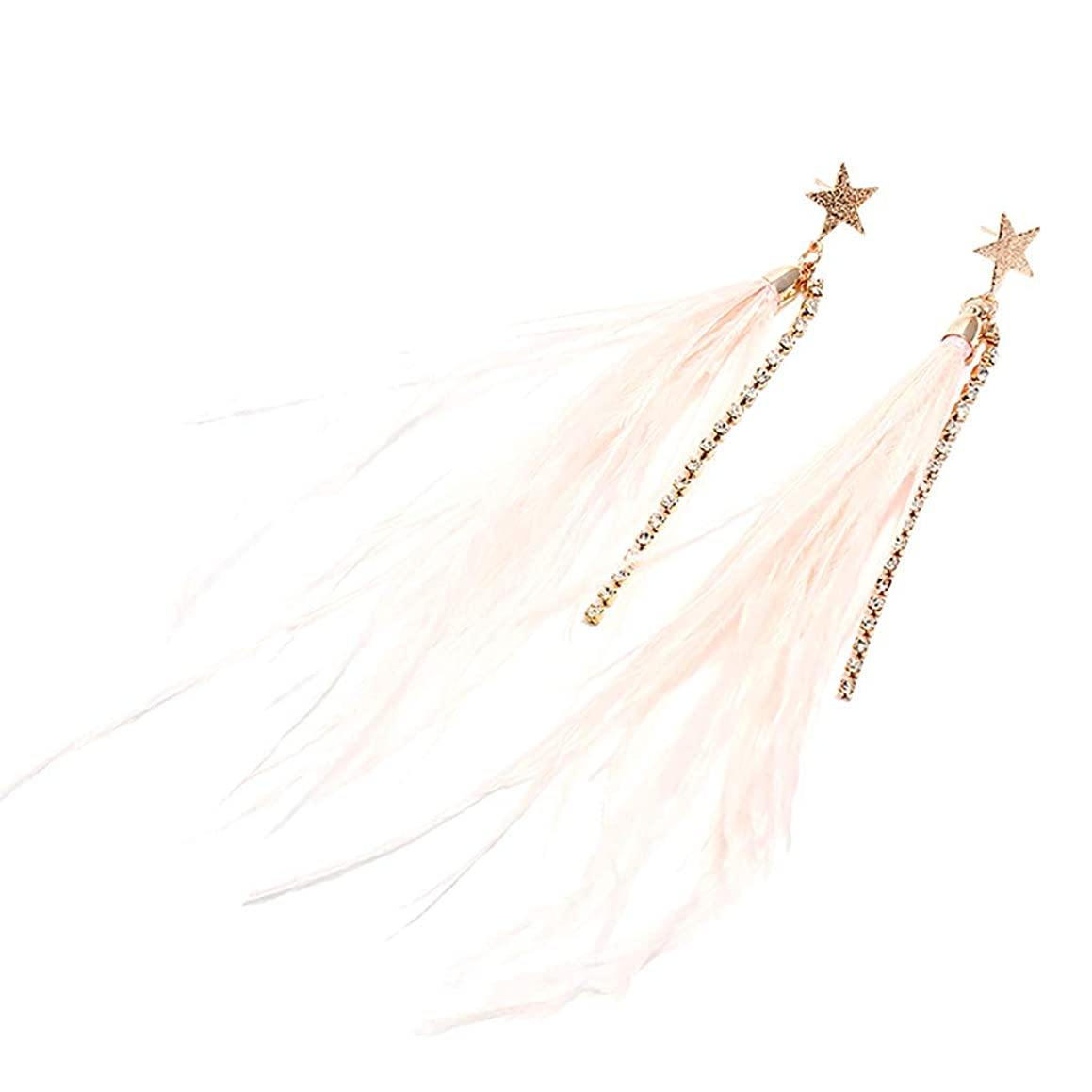 Peigen 2019 New Earrings Lady Jewelry,Feather Charm Simple Light Cute New Girl&Lady Dangle Earrings