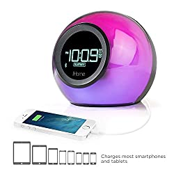 iHome Color Changing Bluetooth Speaker (Bluetooth Clock Radio)