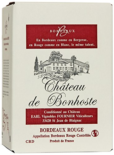 Château de Bonhoste A.O.C. Bordeaux Rouge Bag-in-Box Rotwein trocken (1x5l)