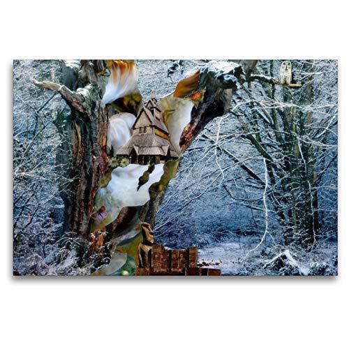 CALVENDO Premium Textil-Leinwand 120 x 80 cm Quer-Format Zauberbaum, Leinwanddruck von Yvonne Pfeifer