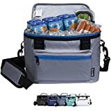 KOOZIE Olympus Insulated Soft Cooler   Keeps Cold for up to 24 Hours   9 Can Reusable Lunch Bag for Men and Women   Heavy-Duty Tarpaulin Outer Shell   for Work Camping Beach Picnic Travel   Gray