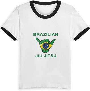 Barbados Flag Unisex Youth's Short Sleeve T-Shirt, Kids T-Shirt Tops