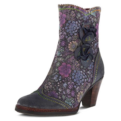 L`Artiste Womens Simonetta Blue Multi Boot - 36