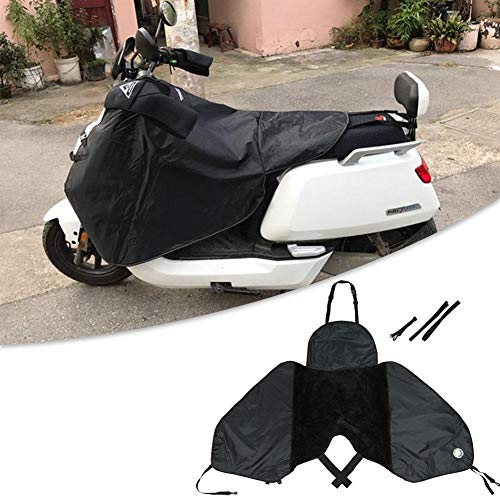 Dequate Linuscud - Cubre Piernas, Cubre Piernas para Motos, Universal Manta para Scooter Impermeable Oxford - Color Negro