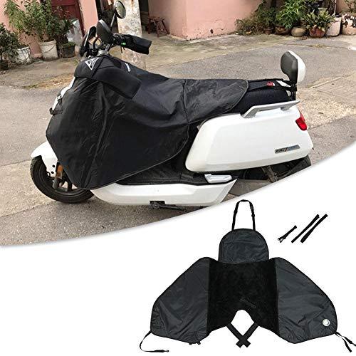 chifans Cubrepiernas para Scooter, Cubrepiernas Moto con Banda Elástica Impermeable A Prueba De Viento Fundas para Motos para Motocicletas Scooter Electric Cars, Negro Well-Matched