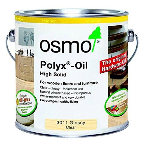 Osmo 3011 Polyx - Olio di cera dura trasparente, 2,5 litri