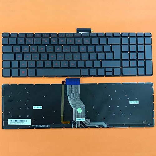 Preisvergleich Produktbild DEUTSCHE - Schwarz Tastatur Keyboard ohne Rahmen mit Beleuchtung für HP 250 G6