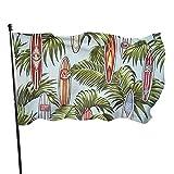 Garden Flag Surf Board Lebendige Farbe und UV-lichtbeständig Double Stitched Yard Banner Saisonflagge Wandflagge 3x5 Ft