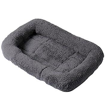 Lit rectangulaire rembourré en cachemire doux et confortable, facile à nettoyer Pour chien et chat Avec bords ronds