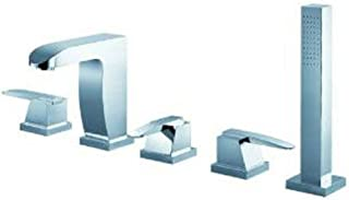 Fluid Faucets F2015 Penguin Roman Bathtub Faucet with Diverter and Hand shower, Chrome, 1-Pack