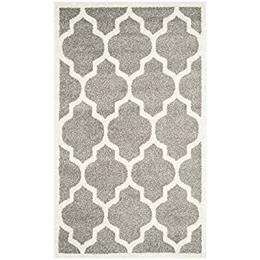 Safavieh Amherst Collection AMT420R Dark Grey and Beige Indoor/Outdoor Area Rug (2'6  x 4')