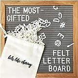 Felt Letter Board, 10x10in Changeable Letter Board with...