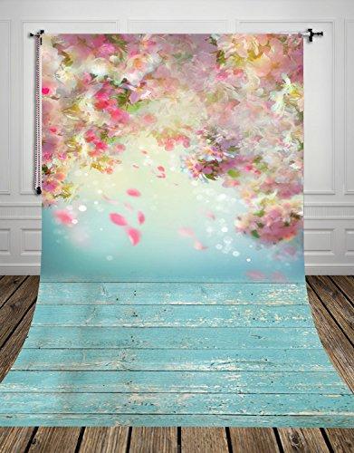 150x300cm Blumen-Foto-Hintergrund für neugeborene Bilder Haustiere Fotografie Hintergrund Frühling Ostern Photo Booth D-9923(NIVIUS PHOTO)