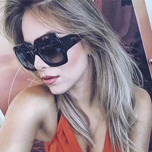 DDLbiz NEW Oversized Square Luxury Sunglasses Gradient Lens Vintage Women Fashion (A)