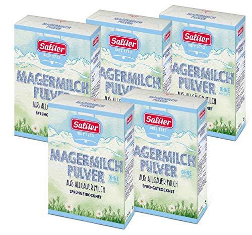 Saliter Alpen-Magermilchpulver, 5er Pack (5 x 250g)