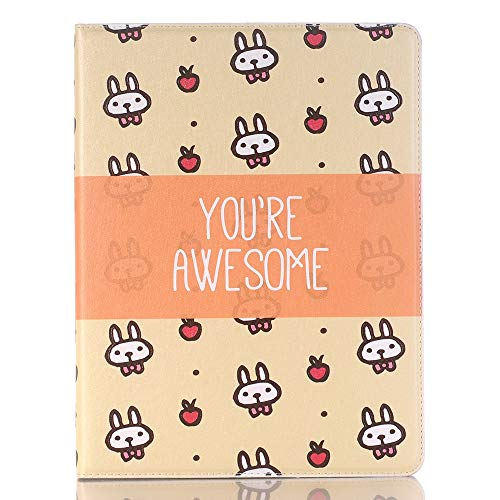 Wangqianli Compatible With IPad 9.7 Inch 2017/2018 (5th/6th Generation) Cute Cartoon Animals Design PU Leather Flip Wallet Stand Tablet Case Cover (PATTERN : 7)