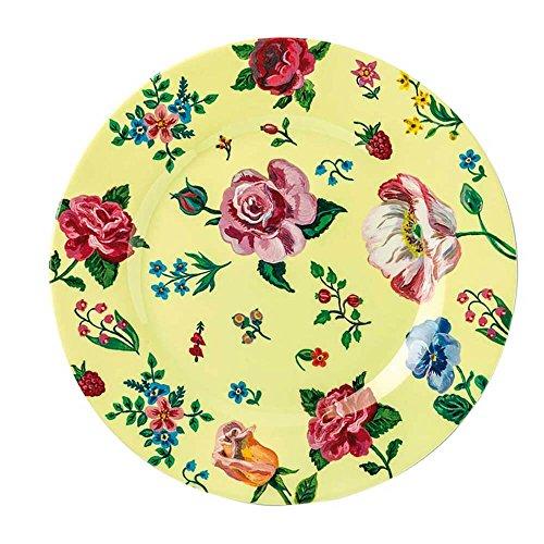 Petit Jour Paris Blumenwelt Assiette jaune en mélamine 20 cm – Assiette pour enfant en plastique mélaminé Multicolore vaisselle pour enfant sans BPA