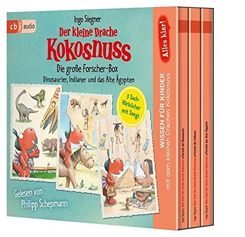 Alles klar! Der kleine Drache Kokosnuss - Die große Forscher-Box: Dinosaurier, Indianer und das Alte Ägypten
