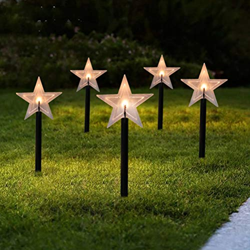 LED Christmas Lights Garden Stake Stand Lights Waterproof Pathway Lights Christmas Decorations for Walkway Yard Lawn Patio Pathway Christmas Lights