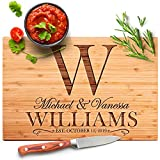 Personalized Cutting Board - 9 Design & 3 Size Options, Bamboo Cutting Board - Wedding Gifts for the Couple, Housewarming Gifts, Anniversary Gift, Grandma Gifts, Engraved Kitchen Sign - Rectangular