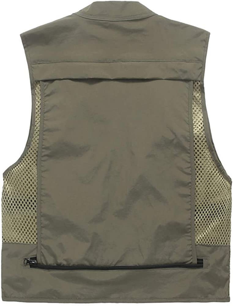 STARDY Men's Summer Outdoor Sports Multi-Pocket Mesh Vest Travel Photography Safari Fishing Vest Jacket