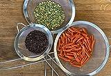 eaBase Küchensieb feinmaschig, Set in 3 Größen 12cm / 16cm / 22cm, verstärkter Griff - 4