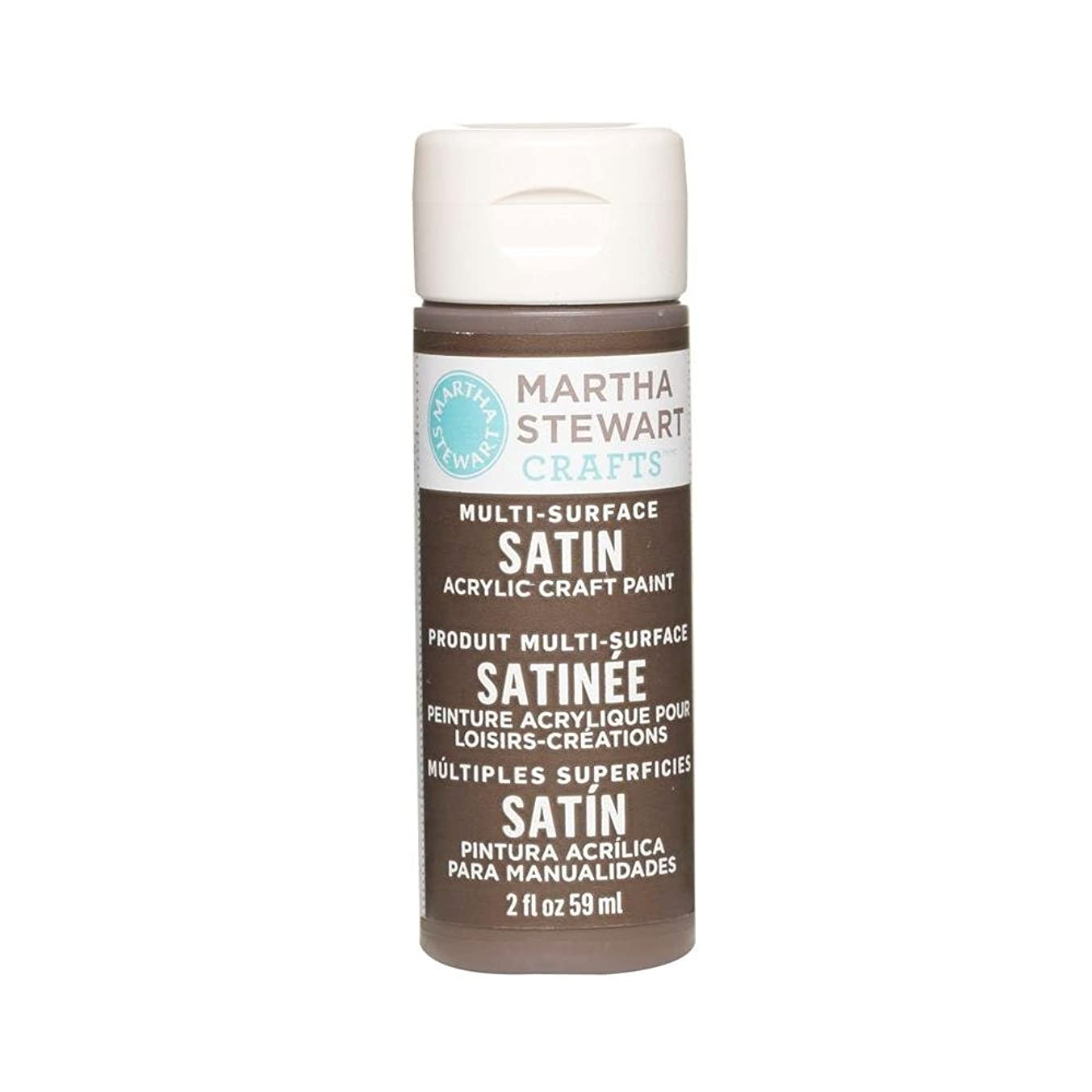 Martha Stewart Crafts Multi-Surface Satin Acrylic Craft Paint in Assorted Colors (2-Ounce), 32069 Vanilla Bean