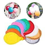 Sunshine smile 36 Zoll Grosse Luftballons,10 Stück Luftballons bunt groß,riesen Luftballons,Latex Luftballons,Ballon Helium groß,Luftballons für Party Geburtstag Hochzeit Dekoration