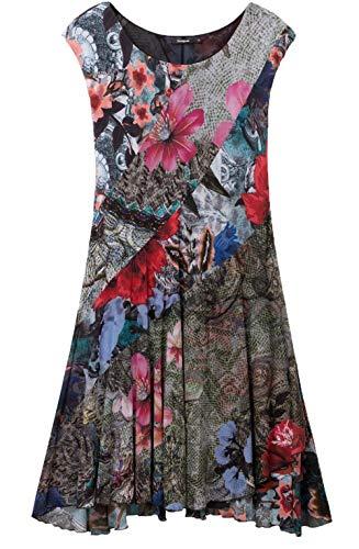 Desigual Dress Short Sleeve KARUKA Woman Pink Vestido, Rosa (Rosa Vento 3018), S para Mujer