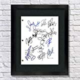 Pretty Little Liars TV Autographed Signed Reprint 8.5x11 Script Framed 13x15 Shay Mitchell, Ashley Benson, Sasha Peterse, Lucy Hale