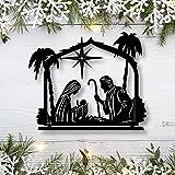 Free Brand Signo de metal de Navidad de Belén Decoración de Navidad Arte de...